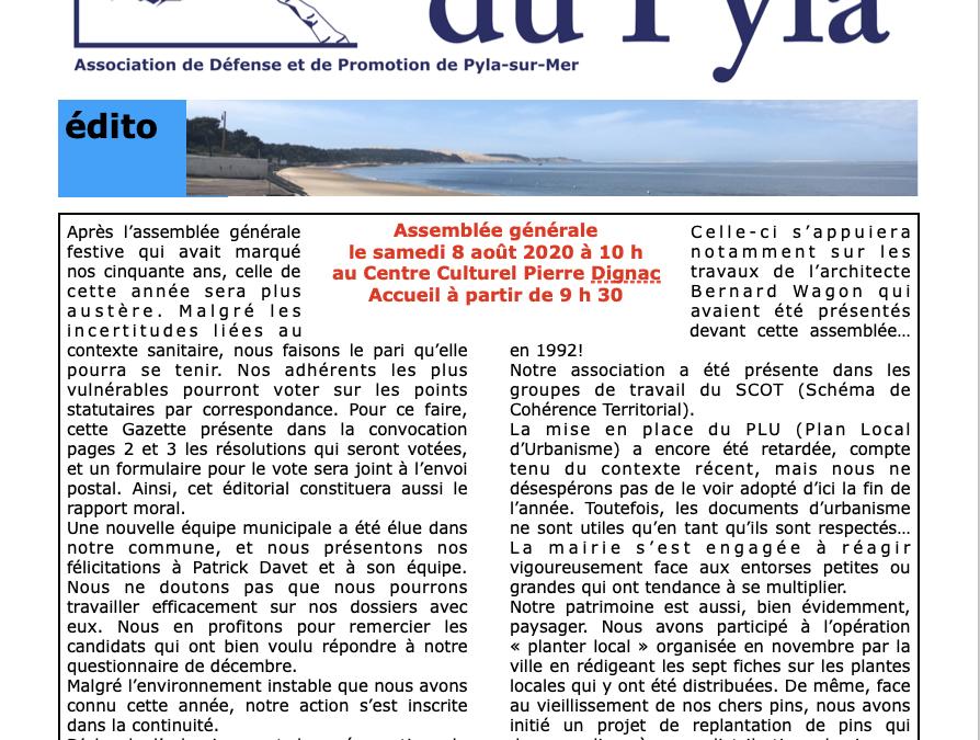 Gazette du Pyla n° 44 – été 2020